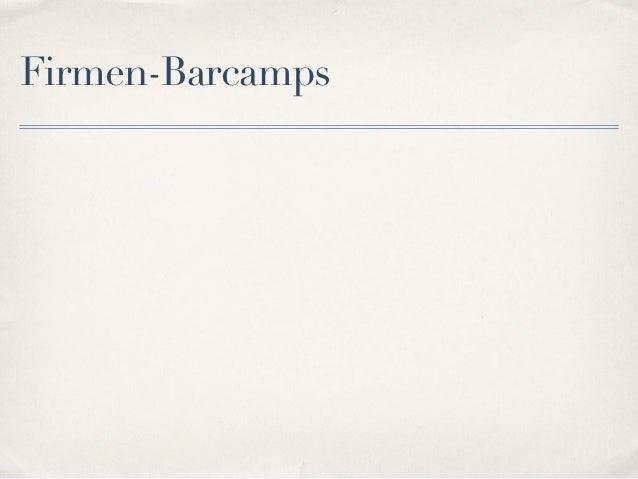Firmen-Barcamps