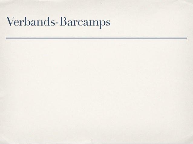 Verbands-Barcamps