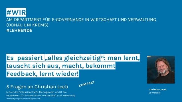 """#WIR AM DEPARTMENT FÜR E-GOVERNANCE IN WIRTSCHAFT UND VERWALTUNG (DONAU UNI KREMS) #LEHRENDE Es passiert """"alles gleichzeit..."""