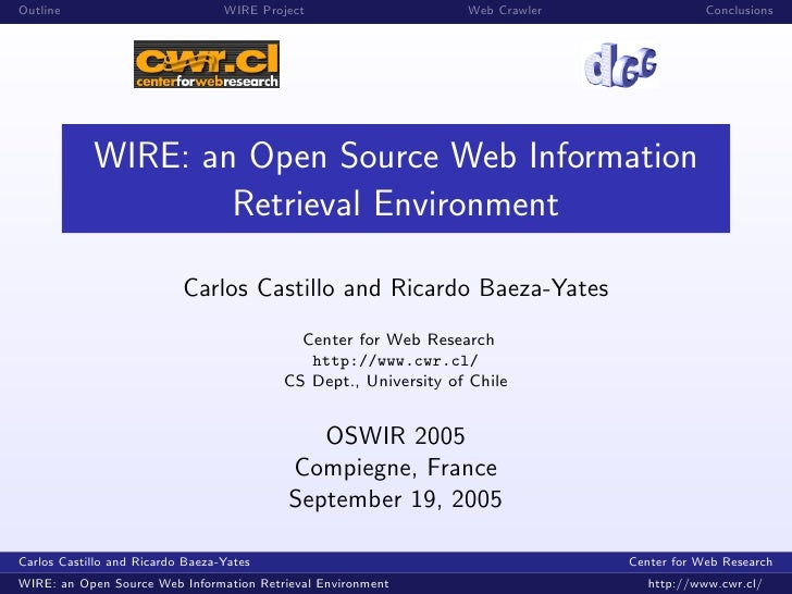 Outline                           WIRE Project                   Web Crawler               Conclusions                 WIR...