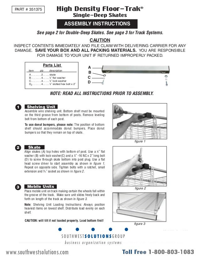 ez rect shelving instructions