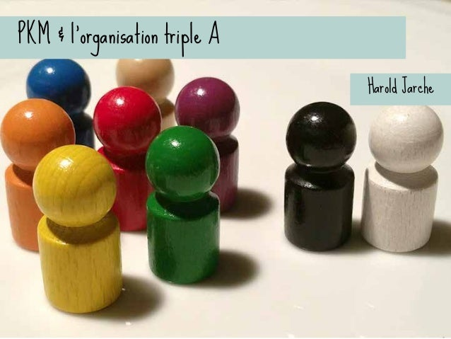 PKM & l'organisation triple A l Awareness, Alternatives, Action l « L'extérieur doit se connecter à l'intérieur »...