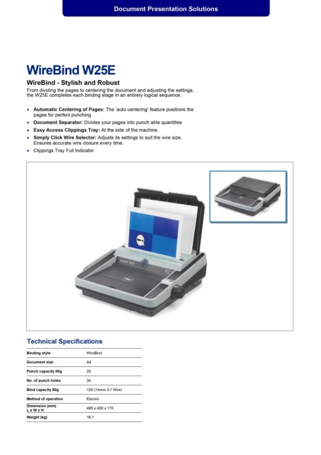 WireBind W25E Office Electric Binder