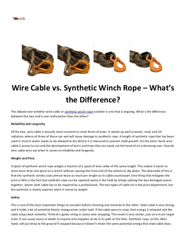 Wire Cable vs. Synthetic Winch Rope – What\'s the Difference?