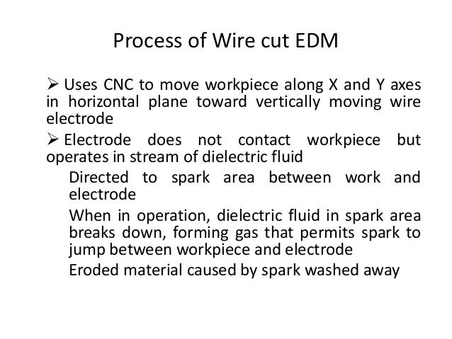 Wire cut EDM