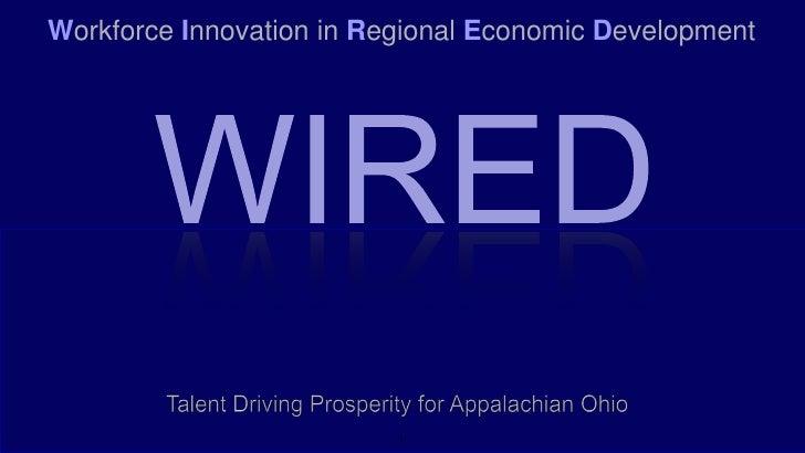 Workforce Innovation in Regional Economic Development                               1