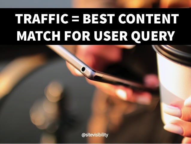 TRAFFIC = BEST CONTENT MATCH FOR USER QUERY @sitevisibility