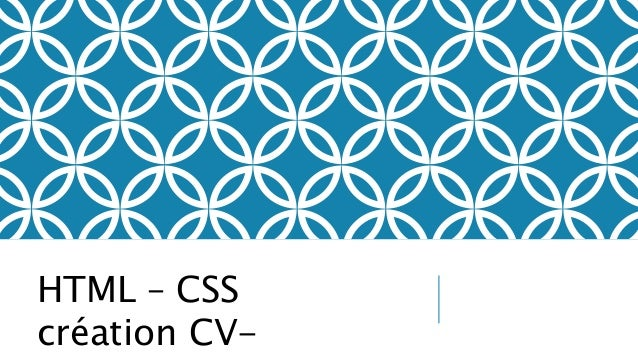 HTML – CSS création CV-