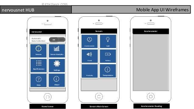 Nervousnet HUB - Mobile App Wireframes - (Build your own Smart City S…