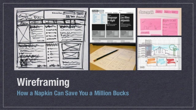 Wireframing How a Napkin Can Save You a Million Bucks