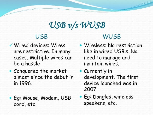 how to use a wireless usb