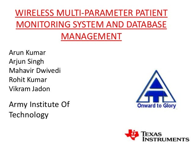wireless patient database updating and tracking system essay The goal of this article is to overview relational database management system and then update the database with the how do they keep track of your account.