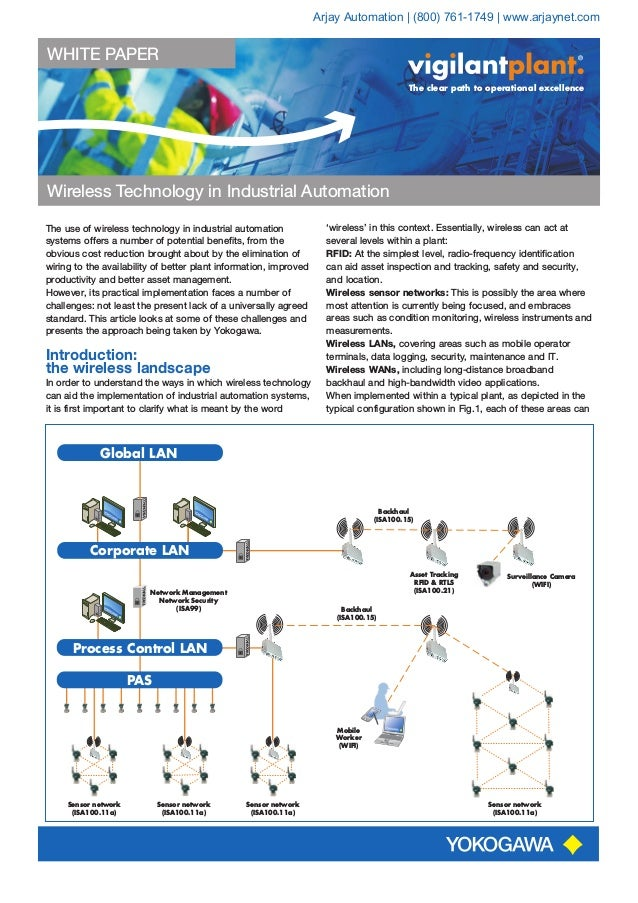 WHITE PAPER Wireless Technology in Industrial Automation The clear path to operational excellence The use of wireless tech...