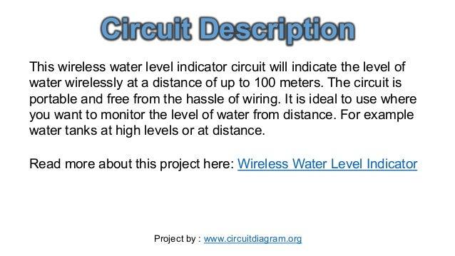 Water Tank Level Indicator Circuit Diagram Best Tank 2018