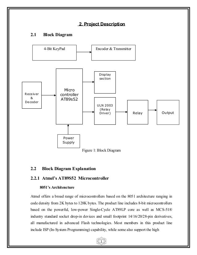 Wireless appliances control report 13 1 2 project description 21 block diagram ccuart