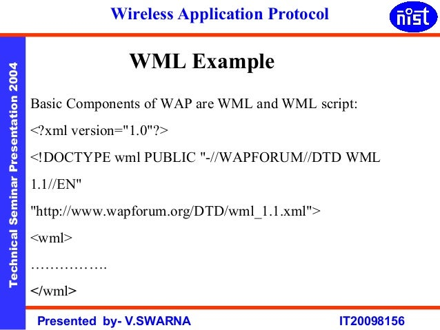 wireless application protocol Read wap -the wireless application protocol: writing applications for the mobile internet book reviews & author details and more at amazonin free delivery.