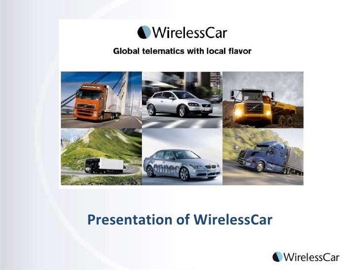 Presentation of WirelessCar <br />