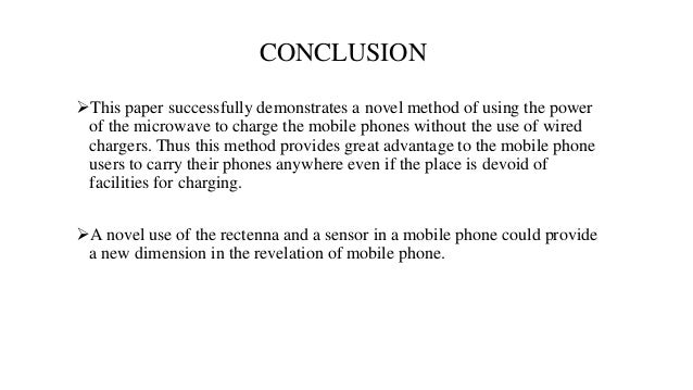 Conclusion mobile phone and rf radiation