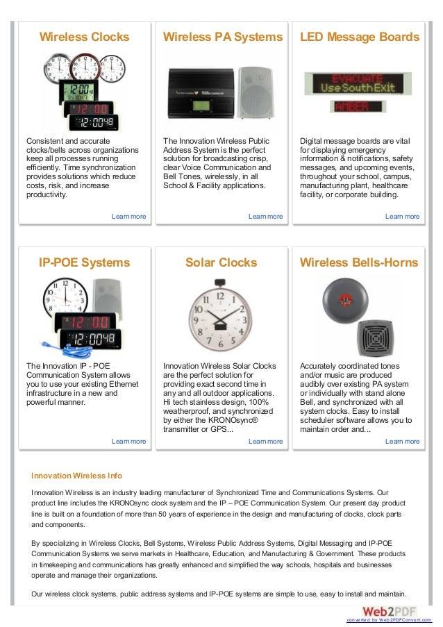 Wireless clocks for business Slide 2