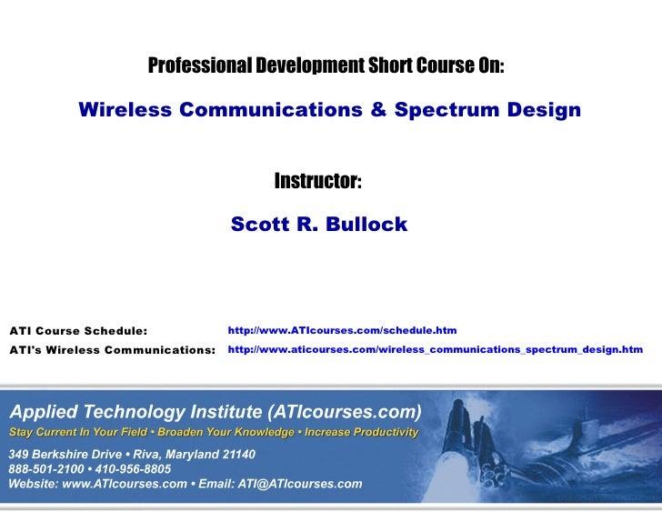 Wireless Communications  U0026 Spread Spectrum Design