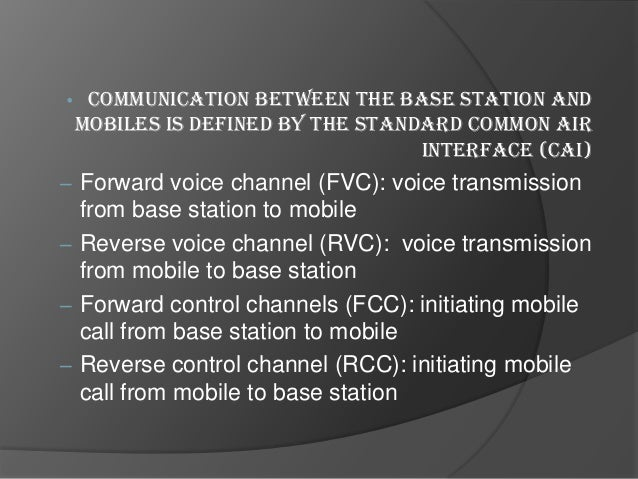 Cellular Telephone Systems •  •  Provide connection to the PSTN for any user location within the radio range of the system...