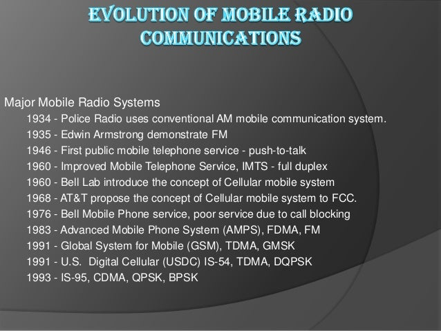 Example of Mobile Radio Systems   Examples  Cordless phone  Remote controller  Hand-held walkie-talkies  Pagers   Ce...