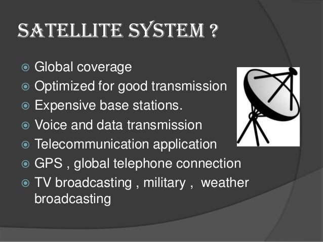 Paging system ? Broad coverage for short messages  Message broadcast from all base stations  Simple terminals  Optimize...