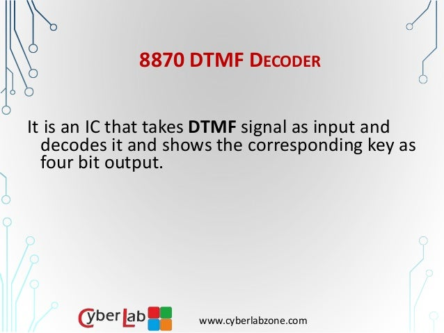 Wireless Communication via Mobile Phone Using DTMF