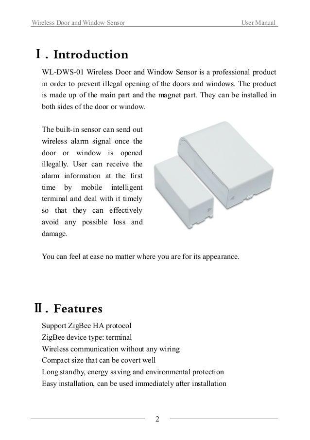 Wireless door and window sensor(WL DWS-01) Slide 3
