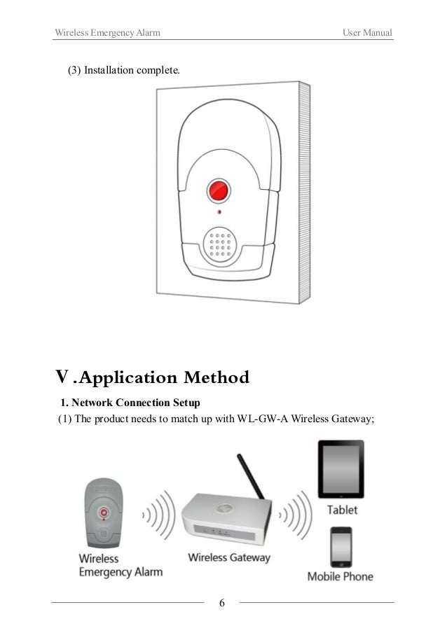 Wireless Emergency Alarm User Manual  (2) Quick click【Emergency button】four times to join ZigBee network;  Interval time o...