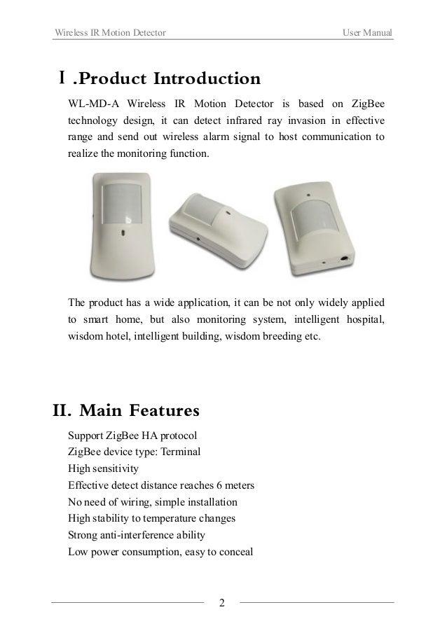 Wireless IR Motion Detector(WL MD-A) Slide 3