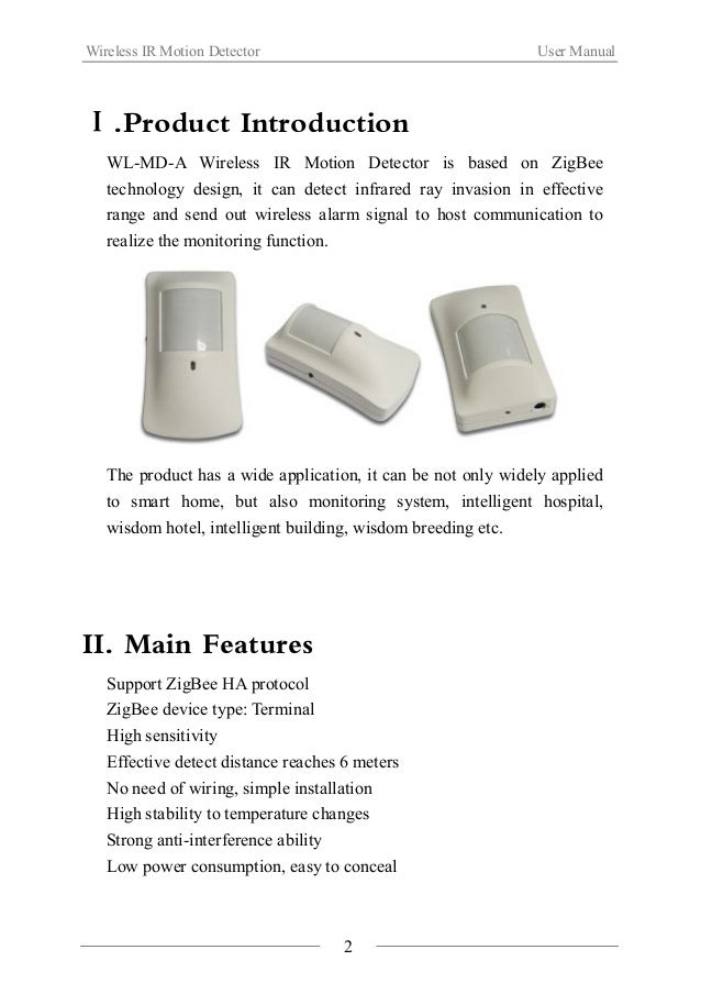 Wireless Ir Motion Detector(wl Md A)