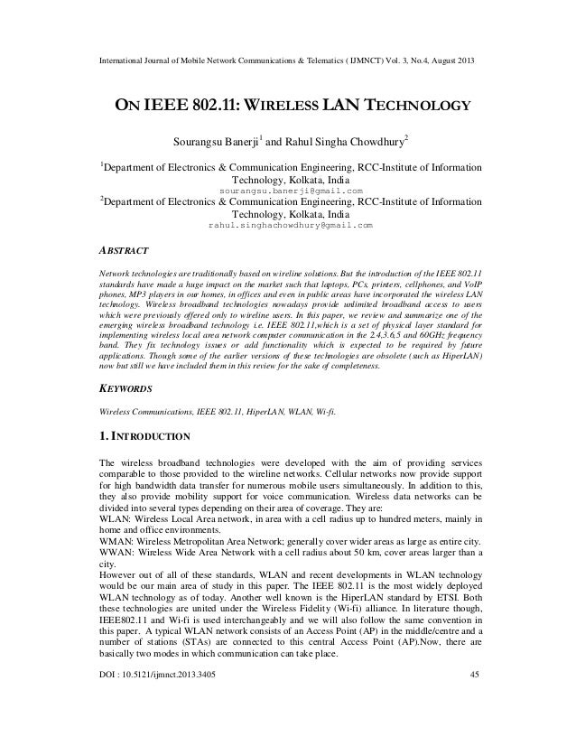 International Journal of Mobile Network Communications & Telematics ( IJMNCT) Vol. 3, No.4, August 2013 DOI : 10.5121/ijmn...