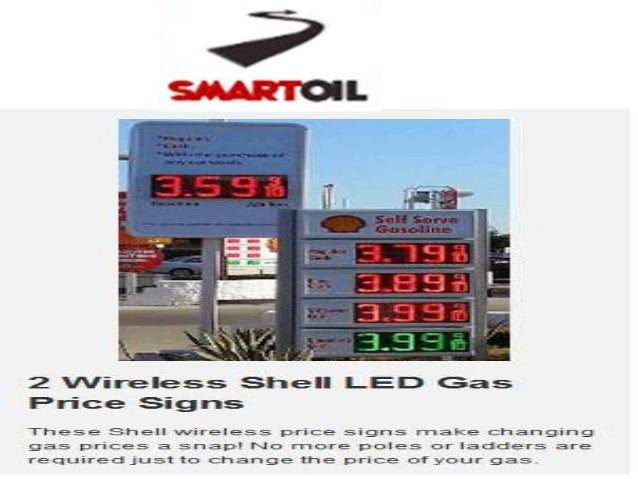 Get Wireless Led Gas Price Signs Changers by Smartoiltechnology