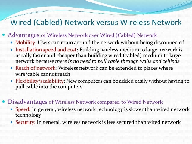 advantages and disadvantages of network technology