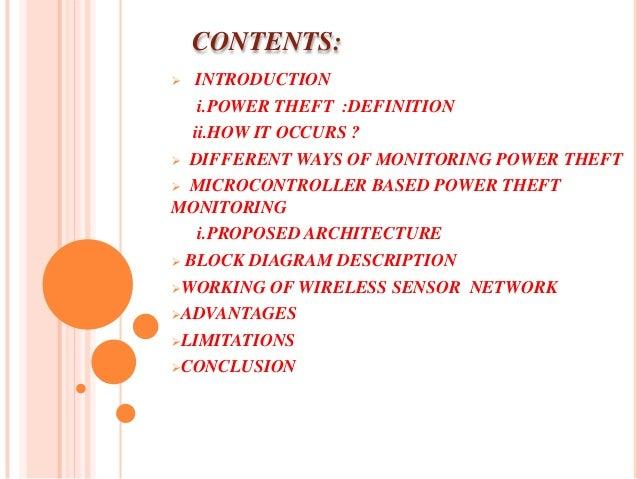 Wireless power theft monitoring Slide 2