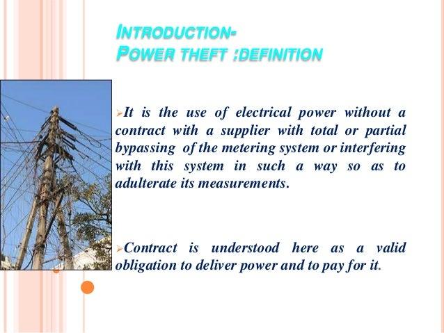 Wireless power theft monitoring Slide 3