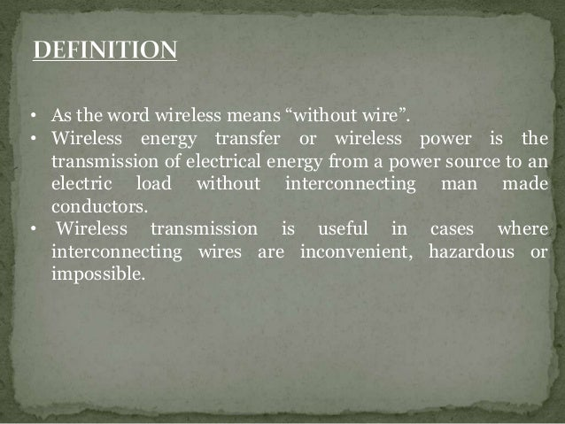 Wireless Power Transmission Ppt
