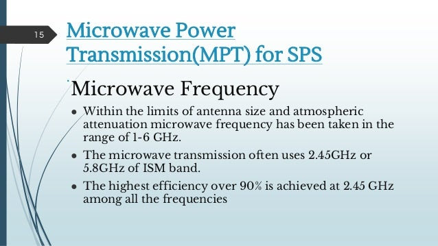 microwave power transmission Sixth international symposium nikola tesla october 18 – 20, 2006, belgrade, sasa, serbia research activities and future trends of microwave wireless power transmission.