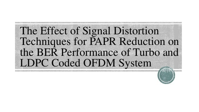 papr reduction techniques in ofdm thesis