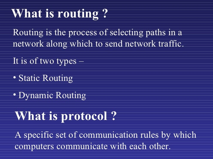 Wireless routing protocols Slide 2