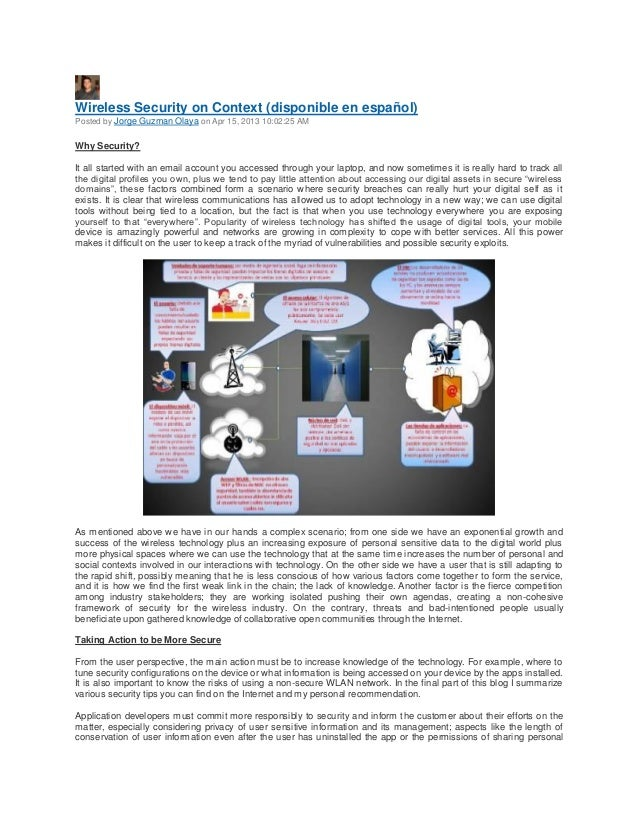 Wireless Security on Context (disponible en español)Posted by Jorge Guzman Olaya on Apr 15, 2013 10:02:25 AMWhy Security?I...