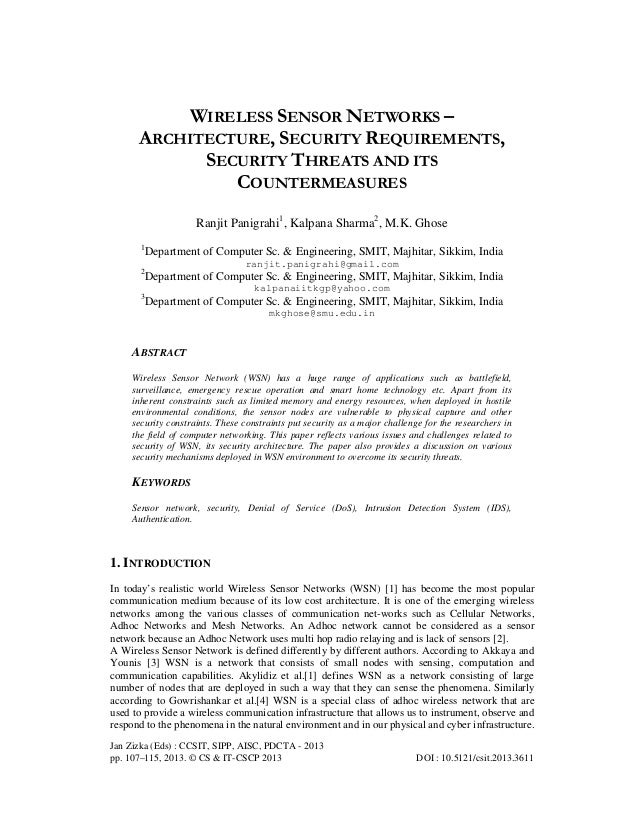 Jan Zizka (Eds) : CCSIT, SIPP, AISC, PDCTA - 2013 pp. 107–115, 2013. © CS & IT-CSCP 2013 DOI : 10.5121/csit.2013.3611 WIRE...