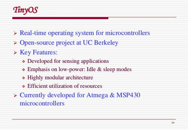 34 RealReal--time operating system for microcontrollerstime operating system for microcontrollers OpenOpen--source project...