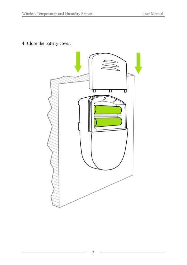 Wireless Temperature and Humidity Sensor User Manual  Ⅴ. Application Method  1. Network Connection Setup  (1) The product ...