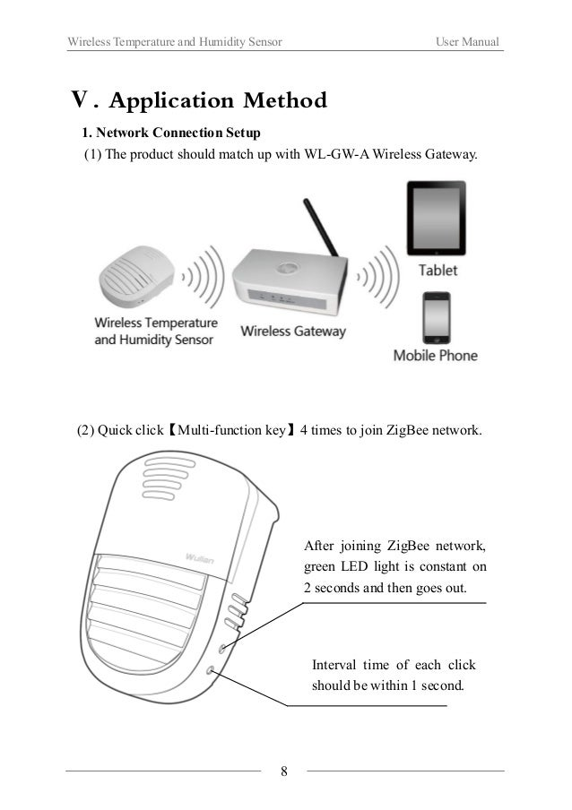 Wireless Temperature and Humidity Sensor User Manual  (3) Quick click【Multi-function key】3 times (Interval time of each cl...
