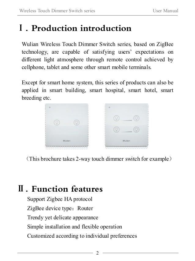 Wireless Touch Dimmer Switch  Slide 3