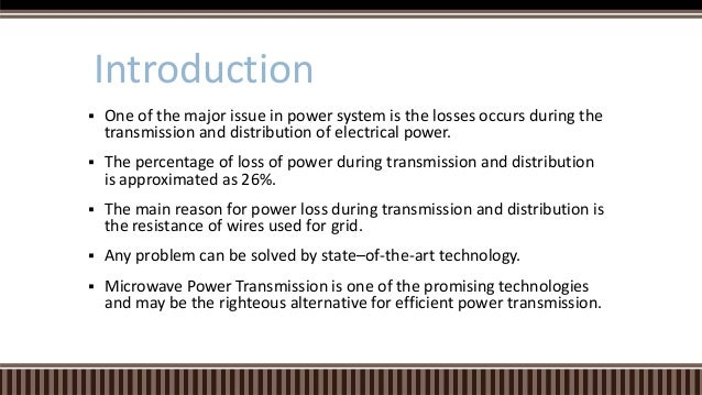 Thesis topic in wireless power transmission