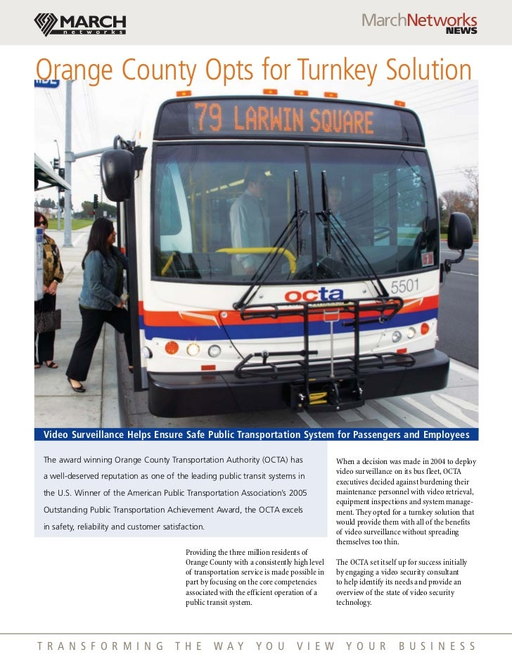Orange County Transit Wireless Bus Video Surveillance