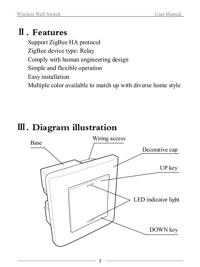 Wireless Wall Switch User Manual  Ⅳ. Installation Steps  1. Connect the wire in wall cassette with the product.  Friendly ...
